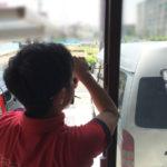 名古屋市中村区、防犯フィルム・窓の主錠増設工事が完了。