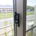 防犯リフォーム、一宮市での防犯窓鍵への交換工事が完了。
