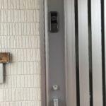 防犯リフォーム、日進市、玄関への電子錠新規設置工事が完了。