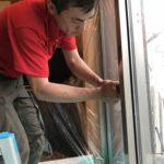 防犯リフォーム、日進市での防犯フィルム・窓の主錠増設・高所対策工事などが完了。