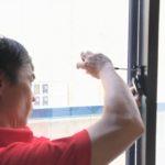 防犯リフォーム、一宮市での防犯フィルム・玄関/窓の主錠増設工事が完了。