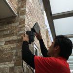 防犯リフォーム、尾張旭市での防犯カメラ・センサーライト設置工事が完了。