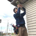 防犯カメラ工事、名古屋市中川区、自治会からの依頼による街頭防犯工事。
