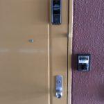 防犯リフォーム、名古屋市中村区、マンション・アパートでの電子錠設置工事完了。