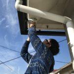 防犯リフォーム、名古屋市名東区での防犯カメラ付け替え工事が完了。