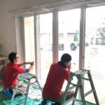 防犯リフォーム、岐阜県関市での・玄関・窓に重点を置いた防犯対策工事が完了。