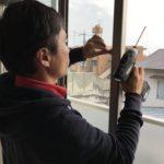 防犯リフォーム、名古屋市名東区での窓と玄関を中心とした防犯対策が完了。