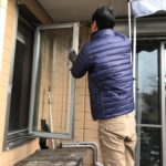 防犯リフォーム、名古屋市緑区での防犯ガラスへの交換工事が完了。