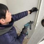 防犯カメラ、名古屋市天白区、マンション敷地内監視を目的とした設置工事が完了。