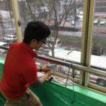 防犯リフォーム、名古屋市中区での防犯/飛散防止フィルムの施工が完了。