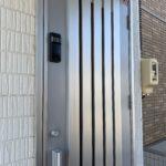 防犯リフォーム、日進市での最新式「指紋認証付オートロック電子錠」への変更。