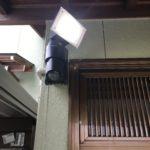 防犯リフォーム、愛知県一宮市でのLED人感センサーライト設置工事が完了。