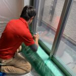 防犯リフォーム、名古屋市天白区での防犯フィルム/窓鍵設置工事が完了。