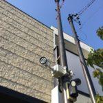 防犯リフォーム、名古屋市千種区での防犯カメラ/LEDセンサーライト設置工事が完了。