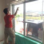 防犯リフォーム、名古屋市天白区での防犯フィルム・主錠増設工事が完了。