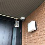 防犯リフォーム、愛知県春日井市、玄関周りと車庫への防犯カメラ設置工事が完了。