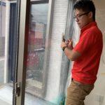 空き巣対策、愛知県稲沢市での防犯フィルムと窓鍵2ロック化施工が完了。
