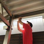 空き巣対策、愛知県知多郡、駐車場監視を目的としたカメラ設置工事が完了。