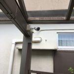 空き巣対策、名古屋市港区、敷地内外の監視を目的としたカメラ設置工事が完了。