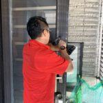 空き巣対策、名古屋市千種区での浴室・玄関への防犯対策工事が完了。