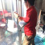 空き巣対策、名古屋市港区、窓・玄関・勝手口への防犯リフォーム工事が完了。