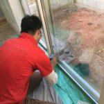 防犯対策、名古屋市天白区での防犯フィルム・防犯窓鍵施工工事が完了。