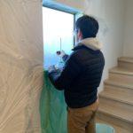 空き巣対策、名古屋市北区での防犯フィルム・勝手口錠増設工事が完了。