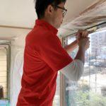 空き巣対策、名古屋市南区、防犯カメラ/フィルム・勝手口/窓の主錠強化工事が完了。