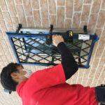 空き巣対策、愛知県豊川市、防犯フィルム/窓鍵/格子・玄関、勝手口3ロック等工事が完了。