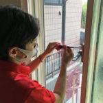 空き巣対策、愛知県春日井市での防犯フィルム/窓鍵セット施工が完了。