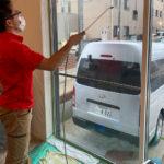 防犯対策、名古屋市昭和区、防犯フィルム・防犯窓鍵施工工事が完了。