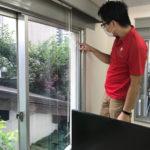 防犯対策、名古屋市中区、店舗兼事務所への防犯フィルム・電子錠設置工事が完了。