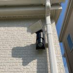 防犯対策、愛知県愛西市、防犯フィルム/窓鍵/ライト施工・玄関/勝手口/窓への主錠増設工事が完了。