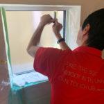 防犯対策、愛知県海部郡蟹江町、防犯フィルム・防犯窓鍵の施工工事が完了。