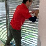 防犯対策、愛知県小牧市、防犯フィルム・玄関/勝手口/窓主錠増設工事が完了。