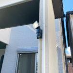 防犯対策、名古屋市西区、玄関3ロック・人感センサーライト・防犯フィルム/窓鍵設置工事が完了。