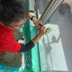 防犯対策、名古屋市千種区、防犯フィルム・防犯窓鍵交換・玄関3ロック工事が完了。