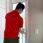 防犯対策、愛知県日進市、戸建て住居へのトータルな防犯リフォームを実施。