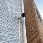 防犯対策、名古屋市中村区、無線カメラ→有線カメラへの入替え工事が完了。