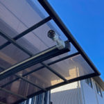 いたずら対策、愛知県知多市でのカーポートへの監視カメラ設置工事が完了。