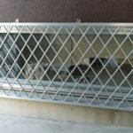防犯対策、名古屋市西区、防犯フィルム・菱クロス面格子・防犯窓鍵の設置工事が完了。