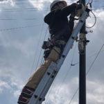 防犯対策、愛知県岡崎市、新しい防犯カメラ・配線への入替え工事が完了。