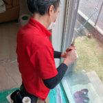 防犯対策、名古屋市昭和区、窓と玄関を重点とした防犯リフォーム工事が完了。